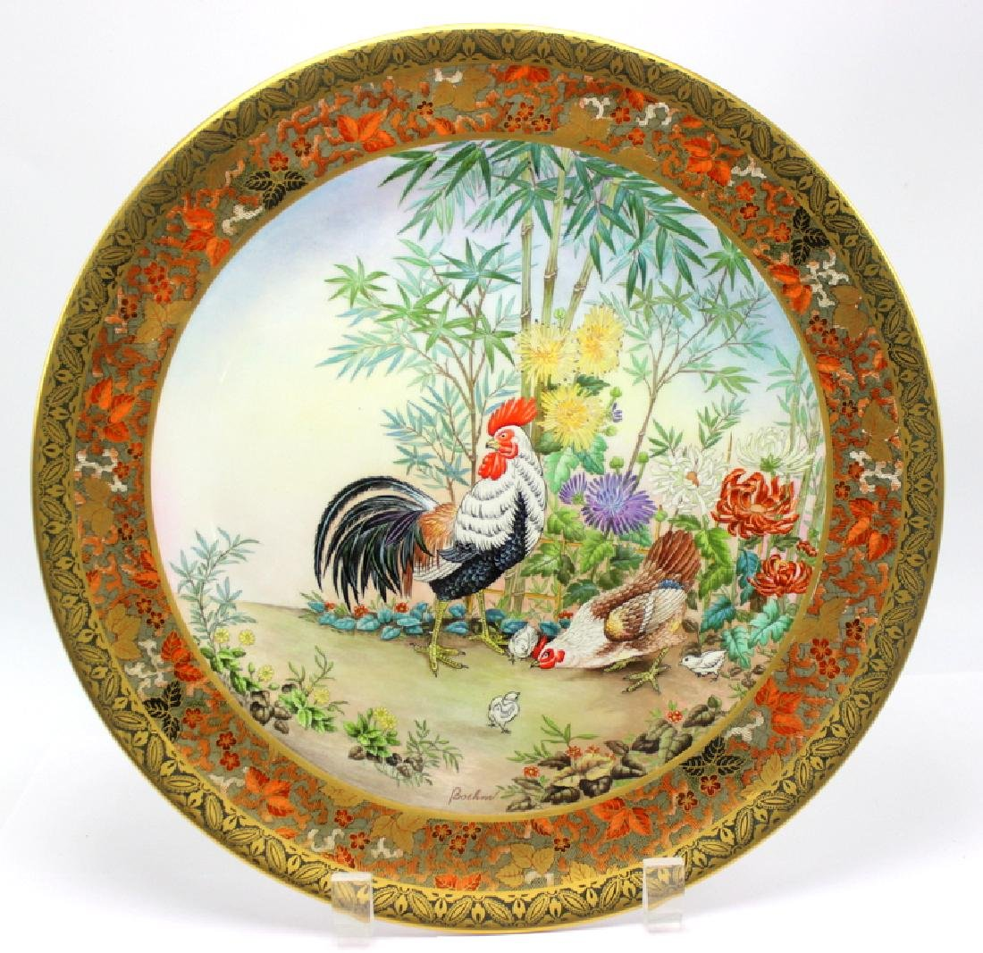 Pair of Bohem L.E. Porcelain Plates