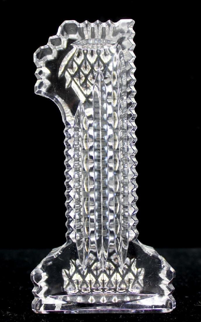 """Waterford Crystal """"#1"""" Figure"""