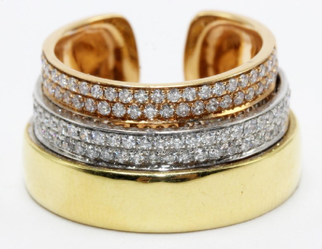 18Kt RG, WG, YG & 0.69ct. Diamond Ring