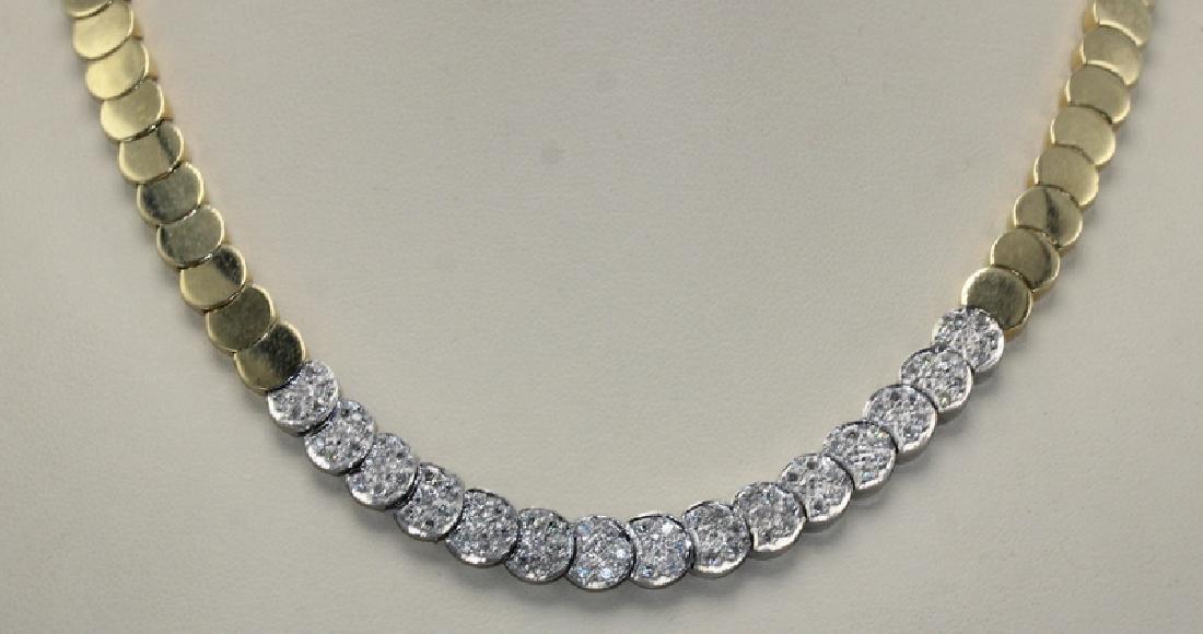 14Kt YG, .20ct Diamond Necklace