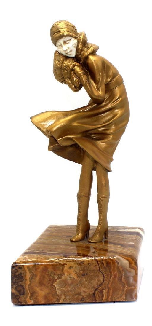 Demetre H. Chiparus Bronze Polychrome Inset Figure