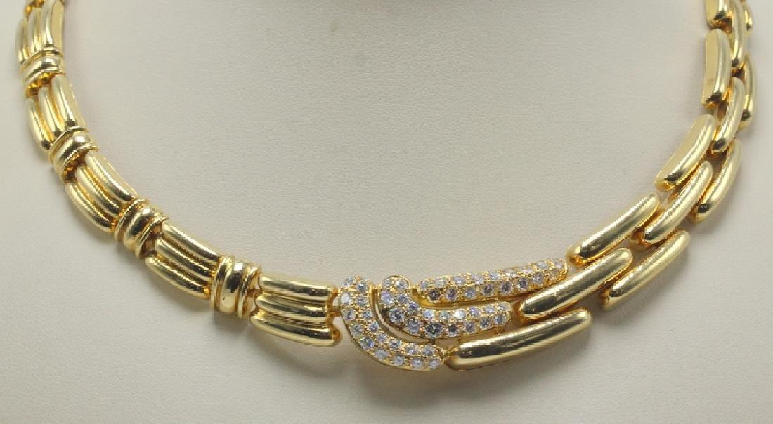 Bucherer 18Kt YG & 2.50ct. Diamond Necklace
