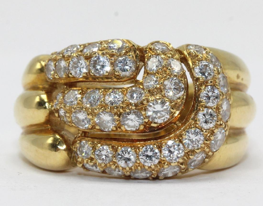 Bucherer 18Kt YG & 1.50ct. Diamond Ring