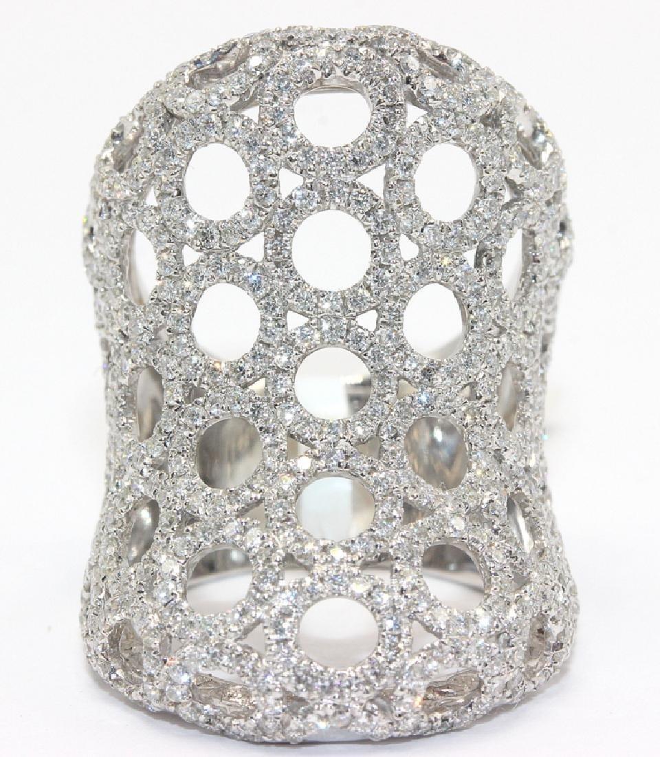 18Kt WG & 2.19ct. Diamond Ring