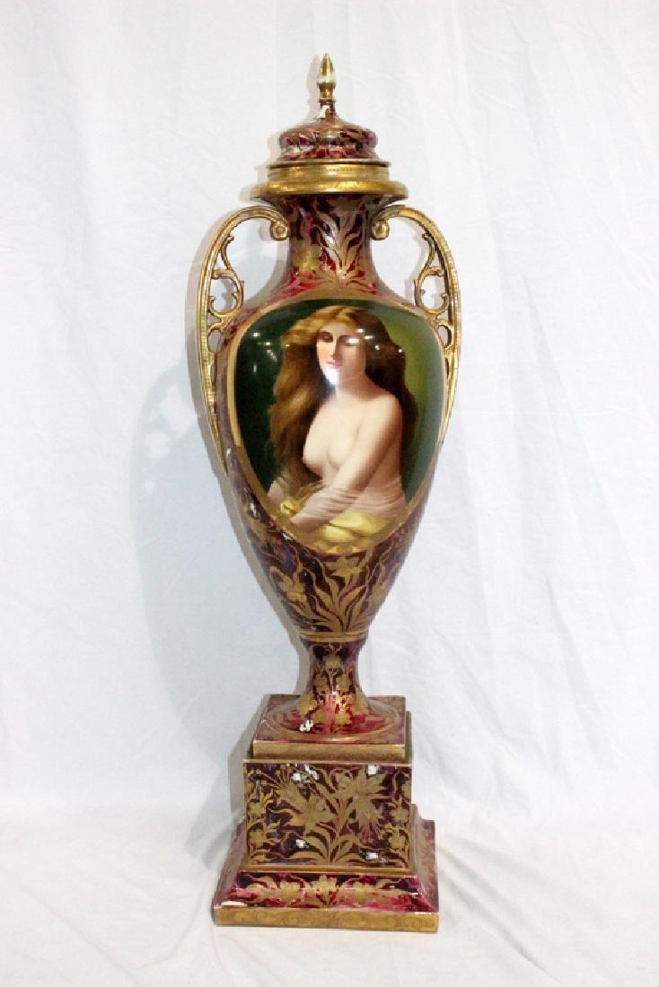 Rare Royal Vienna Hand-Decorated Portrait Vase