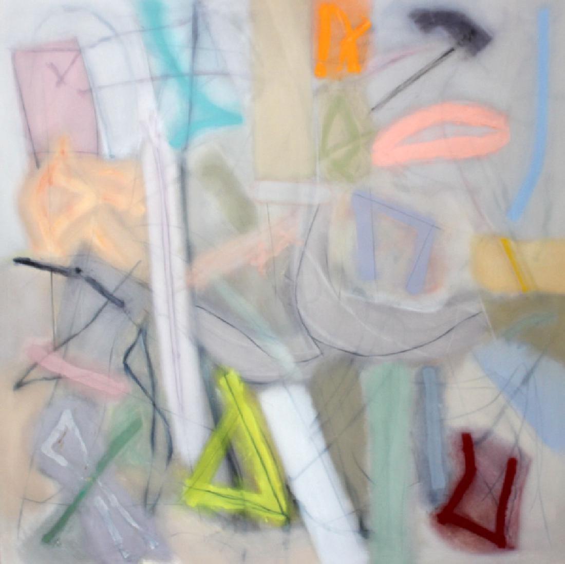 "Richard Hogan ""Never Love"" Palace Size Oil & Charcoal"