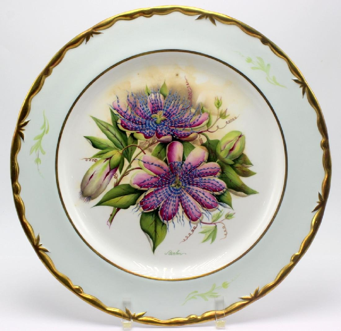 "Boehm L.E. ""Passion Flower"" Hand Painted Plate"