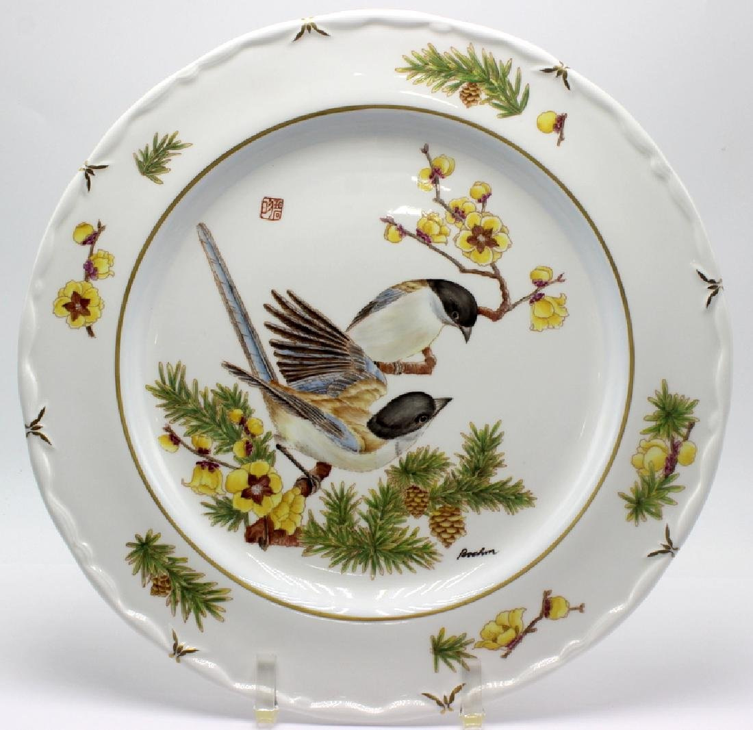 "Boehm L.E. ""Winged Magpie"" Hand Painted Plate"