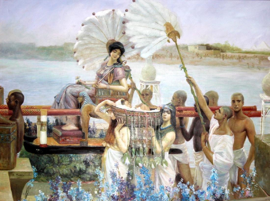 Oil on Canvas Biblical Scene