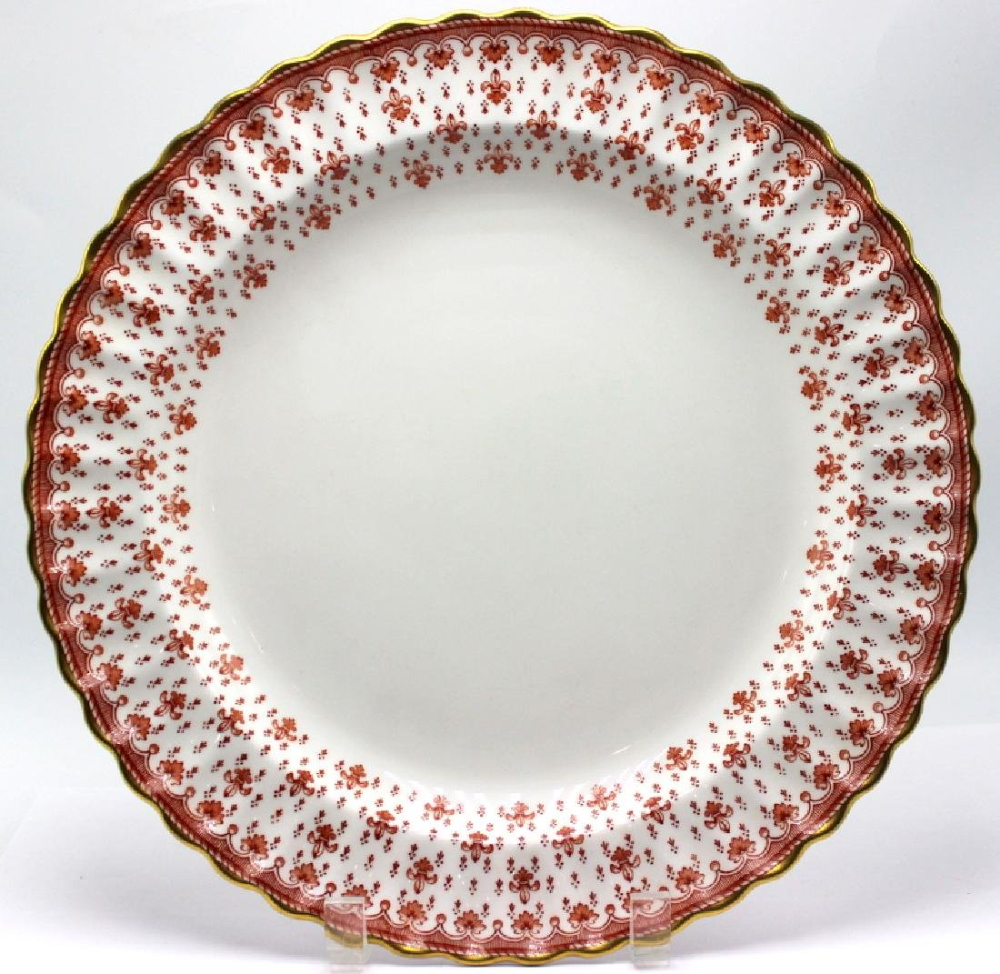 Spode Fleur-de Lys Red Bone China Serving Plate