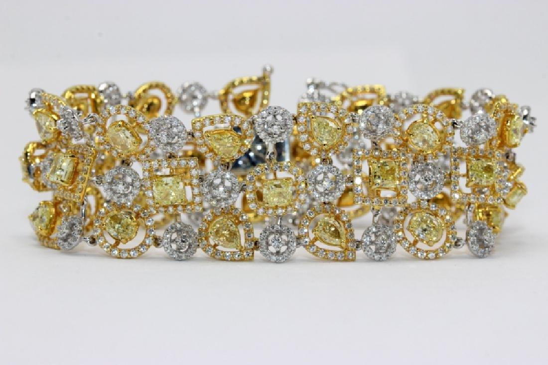 18Kt WG & 12.69ct. Diamond Bracelet