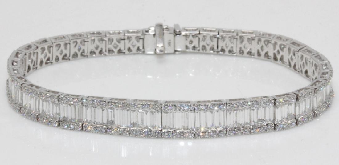 18Kt WG & 8.89ct. Diamond Bracelet