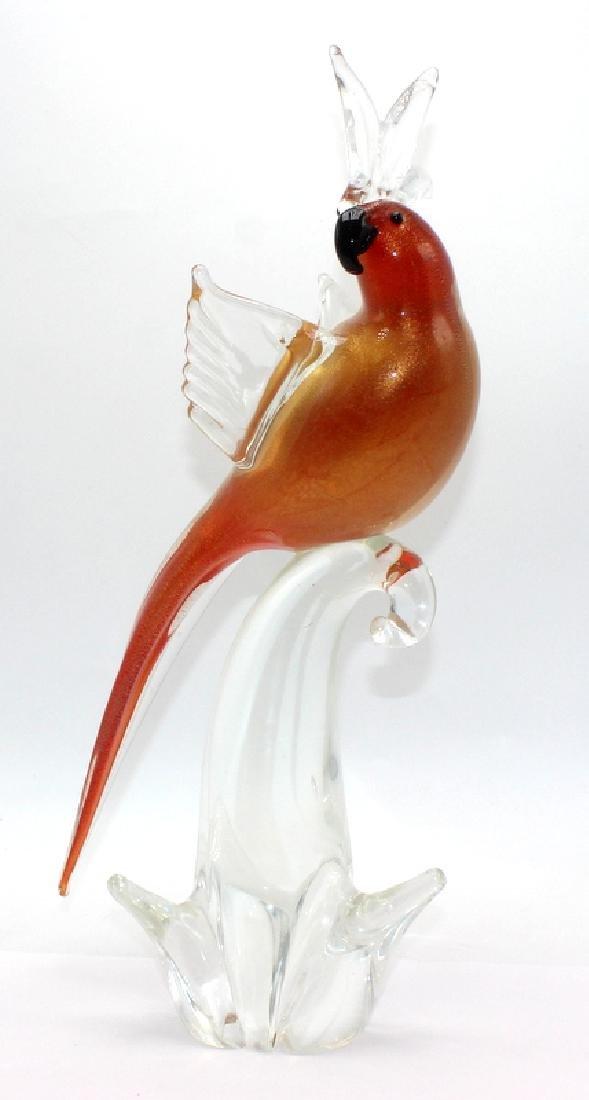 Crystal Art Glass Cockatoo