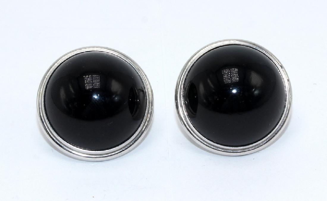 Lalique Onyx Earrings