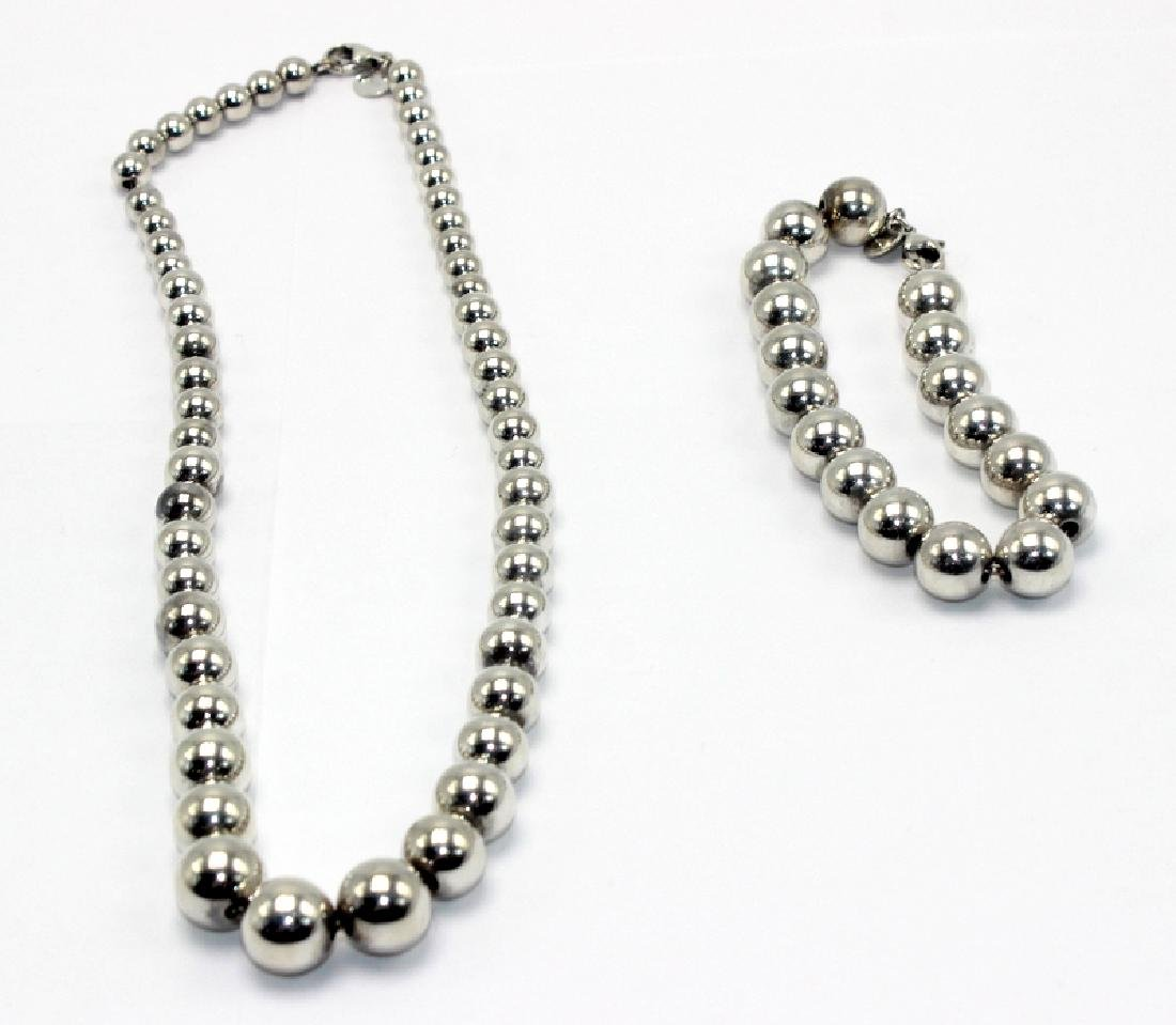 Tiffany & Co. Sterling Silver Beaded Necklace &