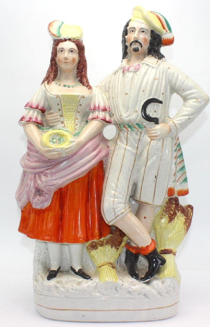 Staffordshire Porcelain Two Figure Group