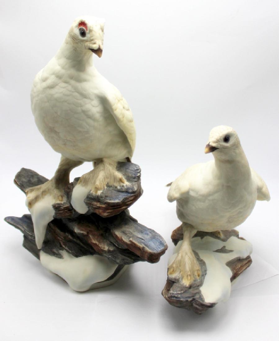 """Boehm """"Ptarmigan"""" Porcelain Group"""