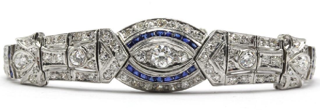 Platinum & 5.00ct. Diamond Art Deco Bracelet