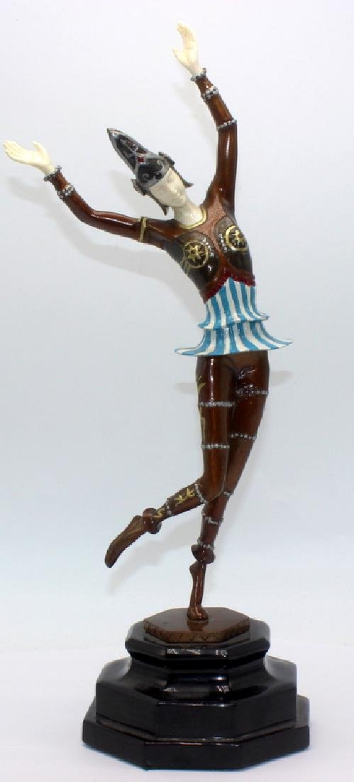 Gustav Schmidt-Cassel Bronze Polychrome Inset Figure