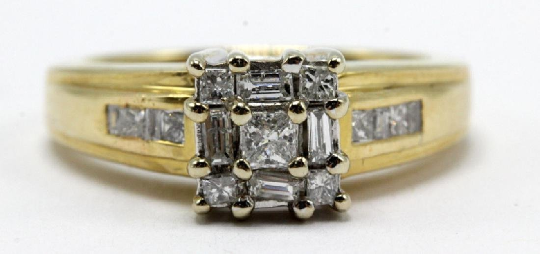 14Kt YG, WG & 0.50ct. Diamond Ring