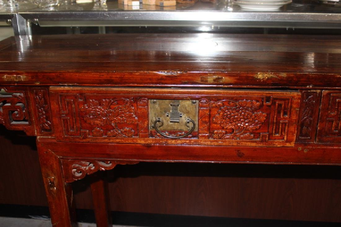Antique Chinese Wood Console Table - 2