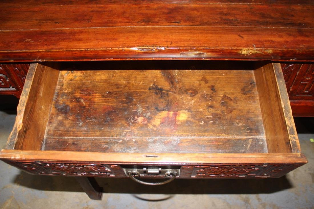 Antique Chinese Wood Console Table - 4