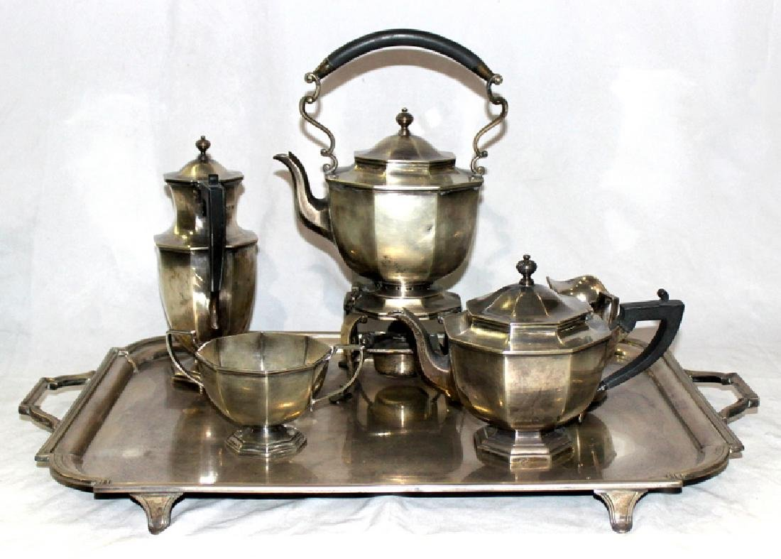 Antique Sterling Silver 6 pc. English Tea Set