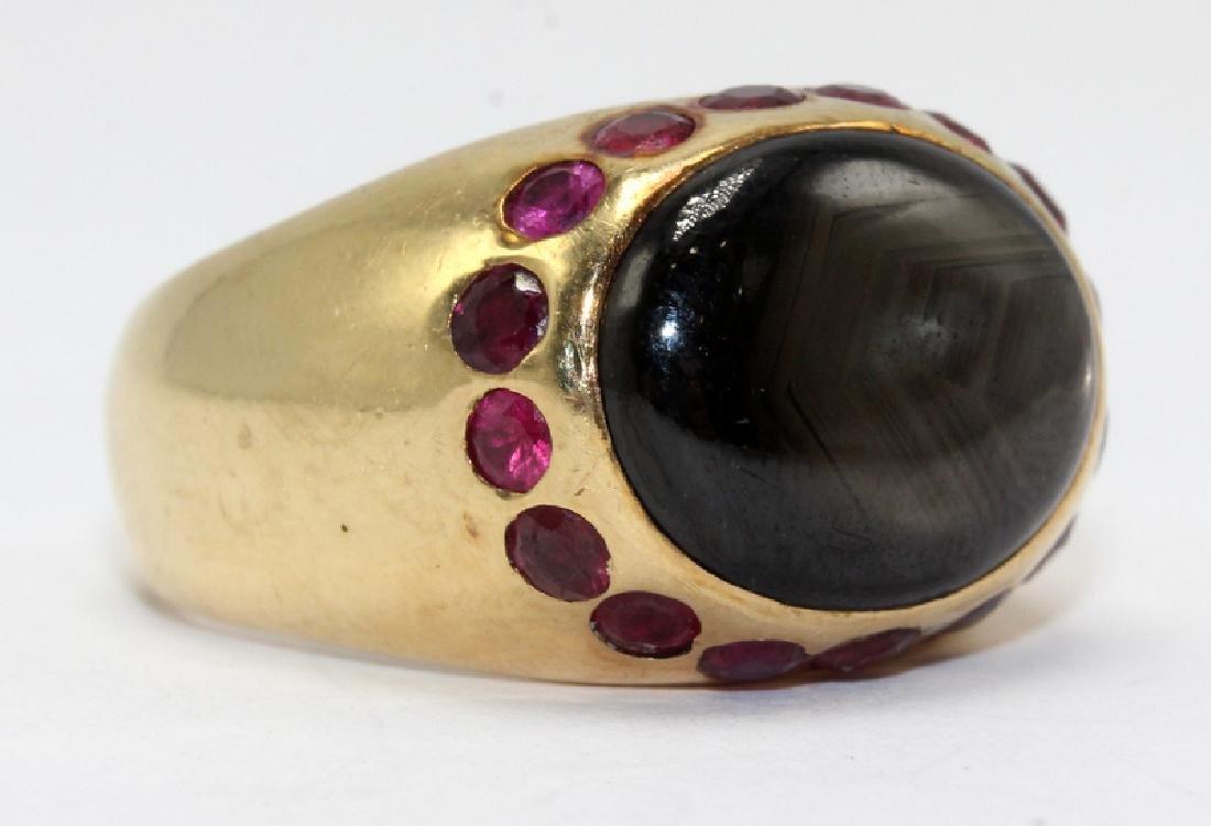 14Kt YG, Ruby & Precious Stone Ring