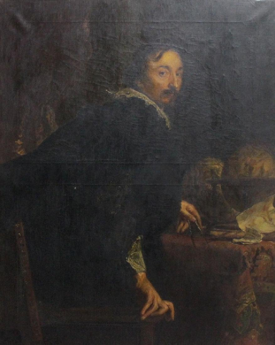 Antique Old Master Oil on Canvas