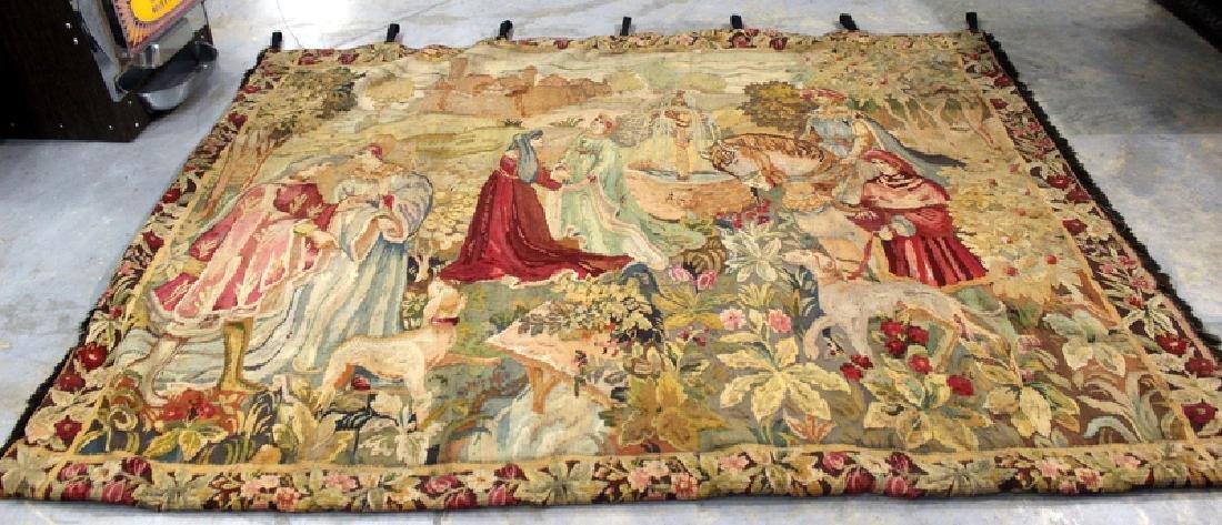 Antique European Aubusson Tapestry