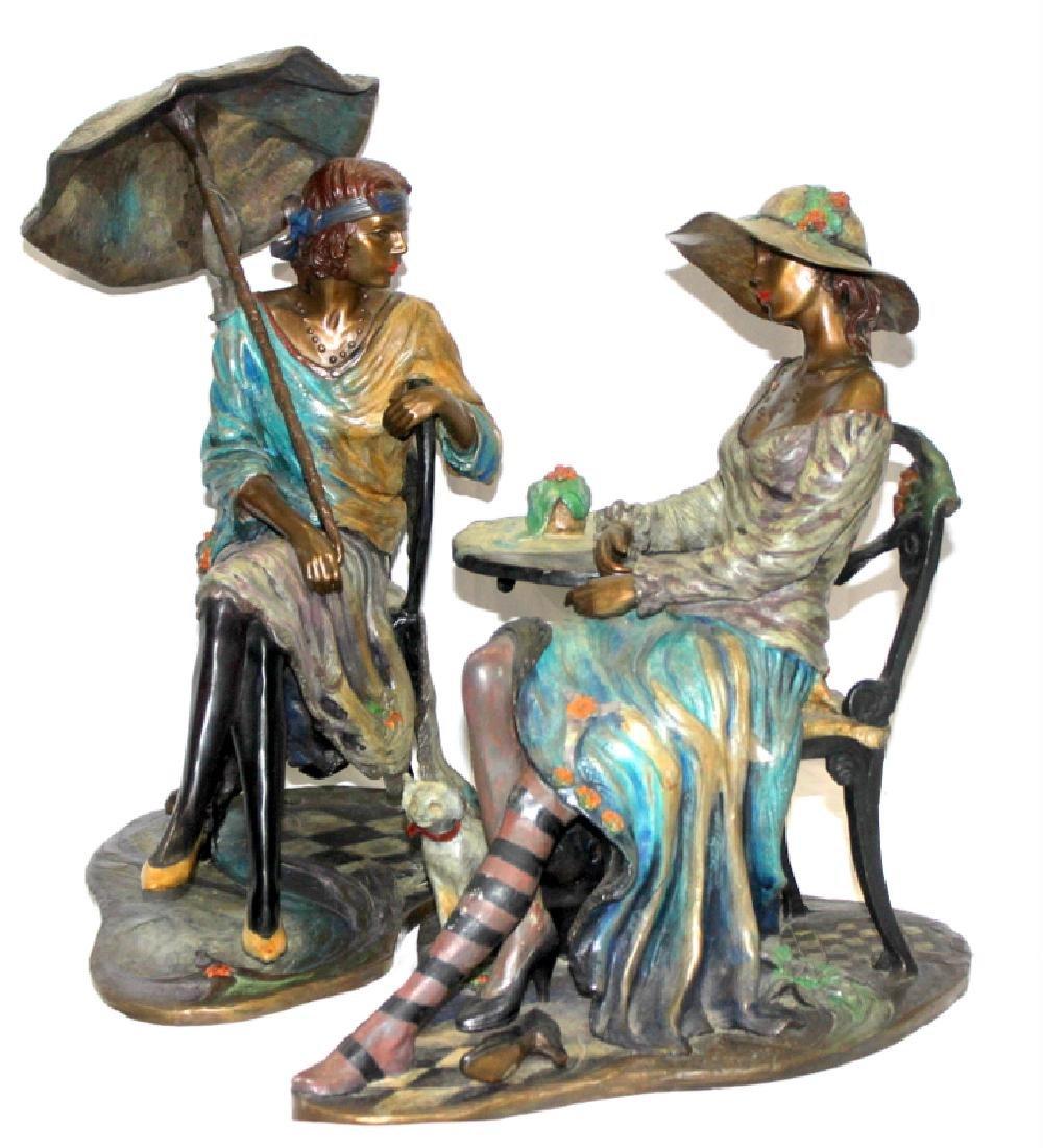 "Issac Maimon ""Café Carnival"" Bronze Sculpture"
