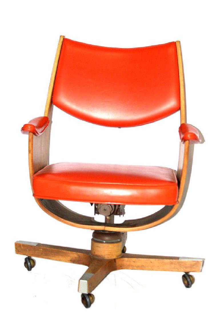 Mid-Century Michael Thonet Style Rolling Chair