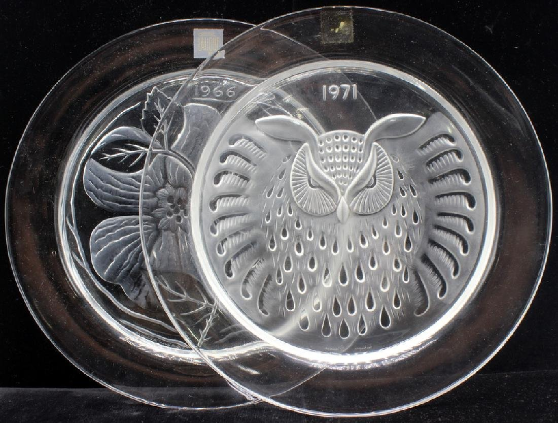 7 pc. Lalique Crystal Annual Plates with Boxes
