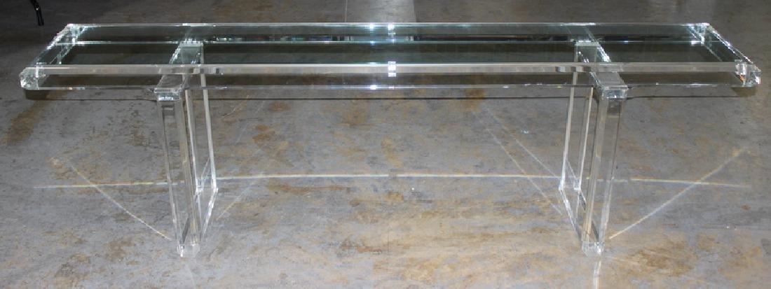 Mid-Century Plexiglass Console Table