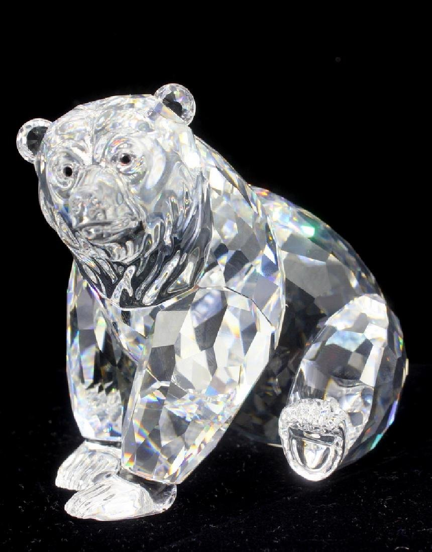 Swarovski Crystal Sitting Grizzly Bear