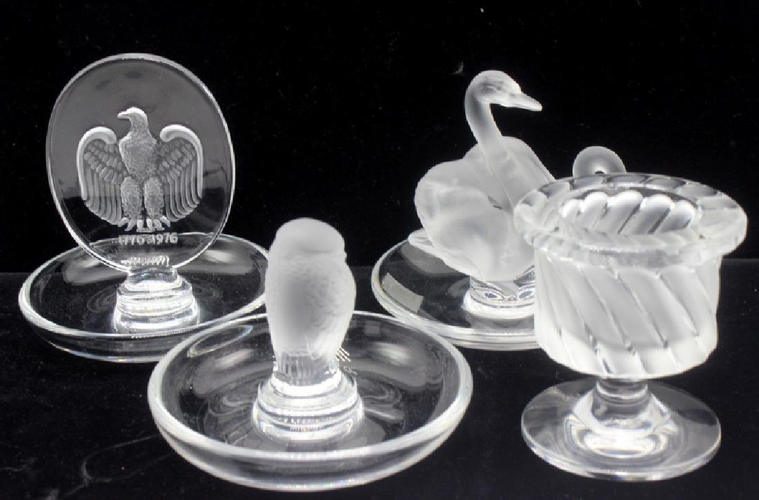 4 pc. Lalique Crystal