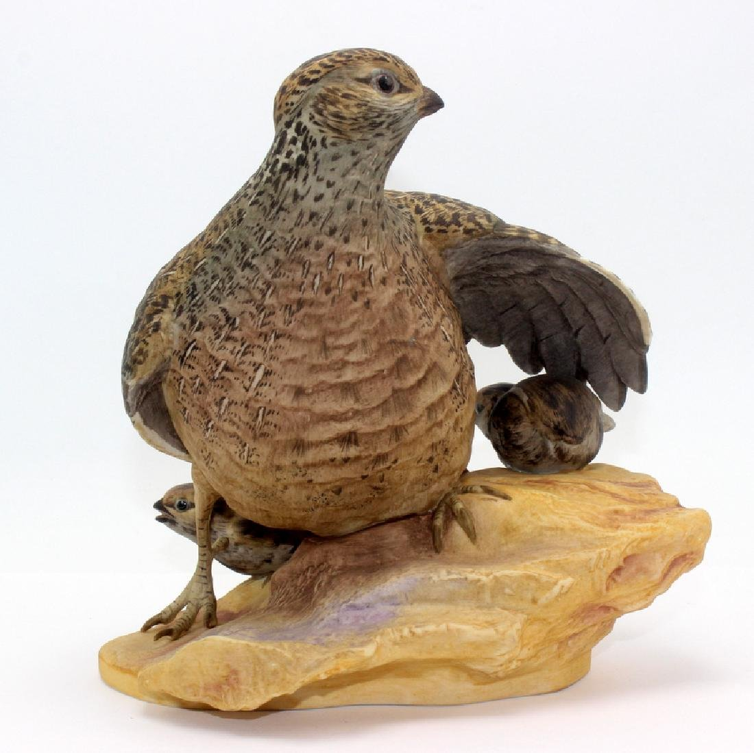 "Boehm ""Mearns Quail w/ Young"" Porcelain Figure"