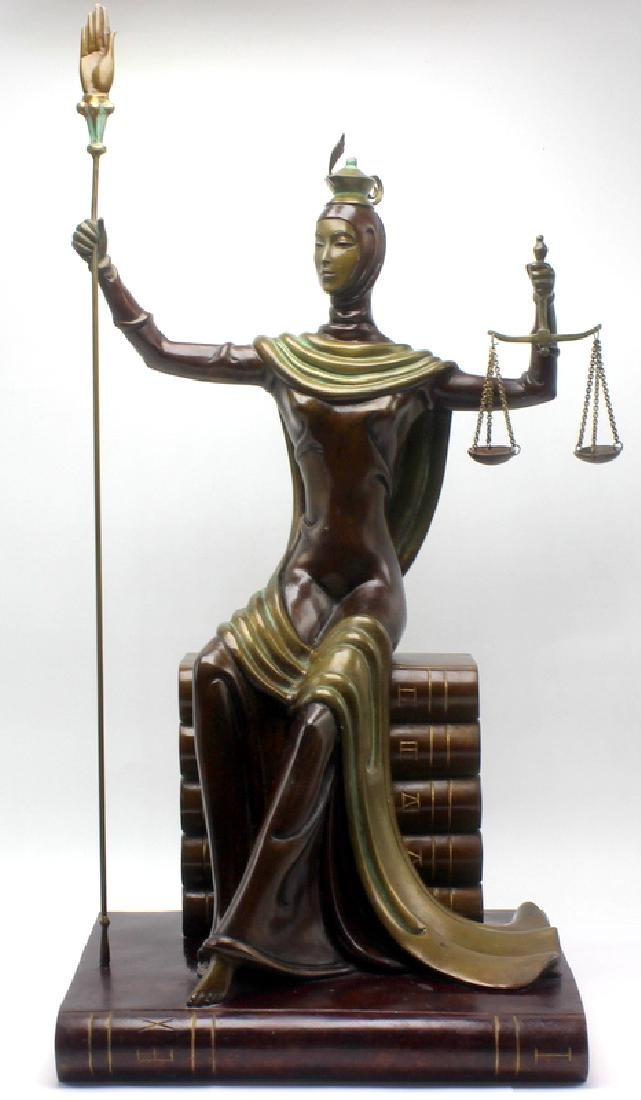 "Erte ""Justice"" Bronze Figure"
