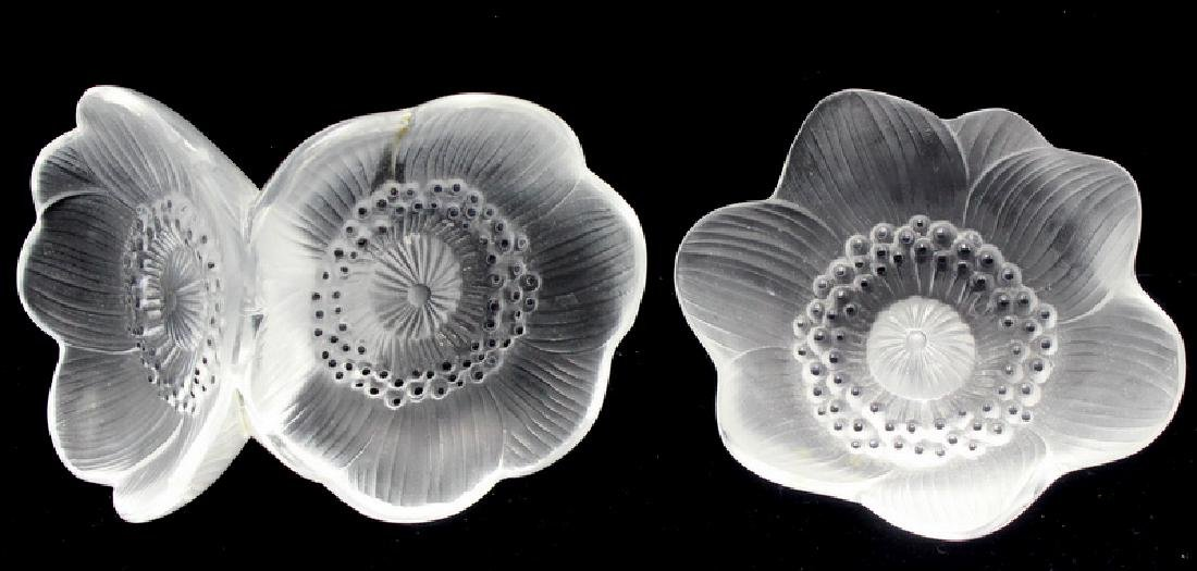 """Lalique """"Anemone"""" Crystal Flowers"""