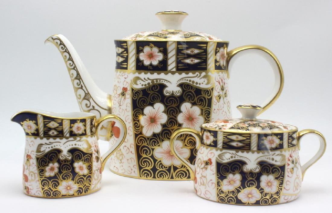 Royal Crown Derby Traditional Imari Coffee Set