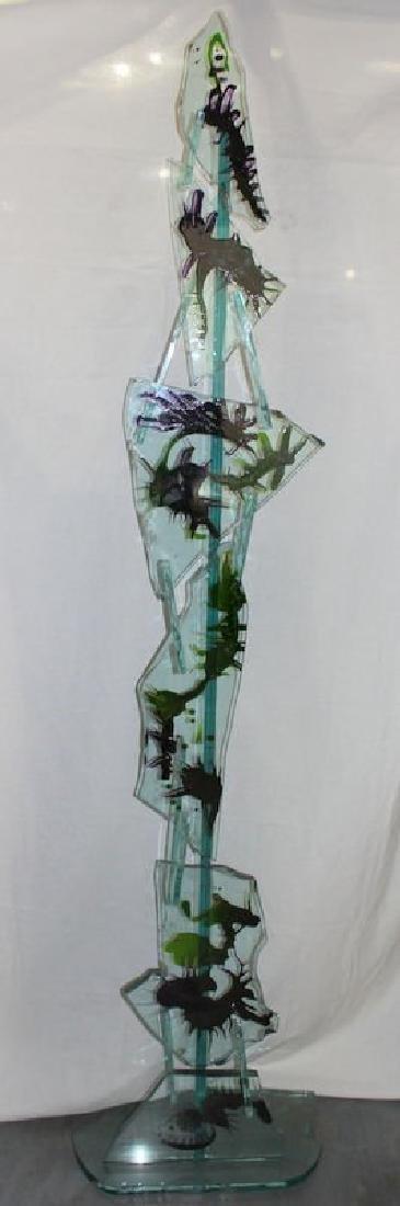 Signed Susan Pelish Art Glass Sculpture