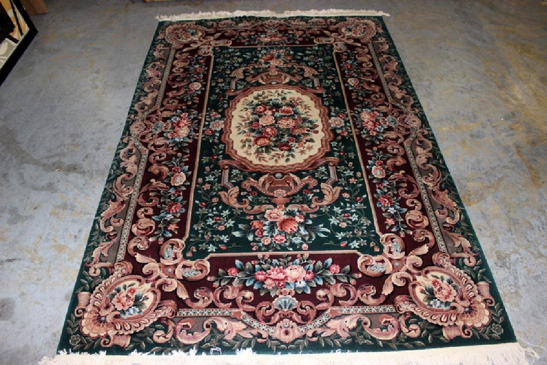 Indian 100% Wool Flower Design Oriental Rug