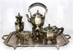 Antique Sterling Silver 6 pc. English Tea Set