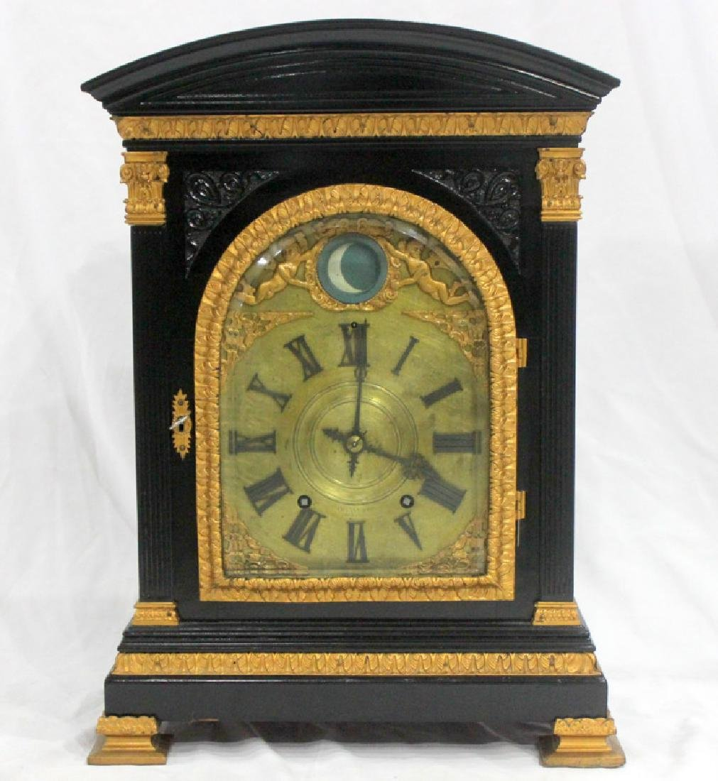 Antique English Bracket Moon phase Clock