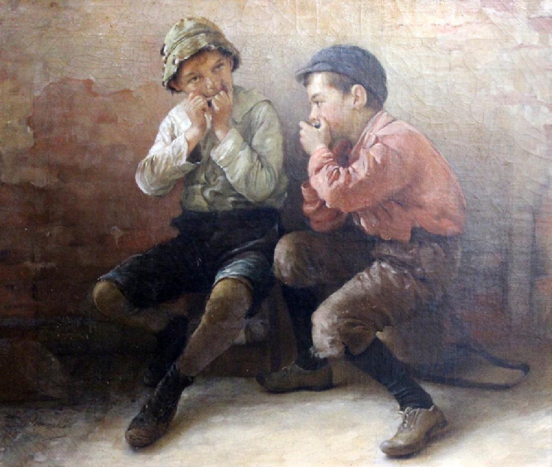 Karol D. Witkowski (American-Polish, b.1860-1910) Oil