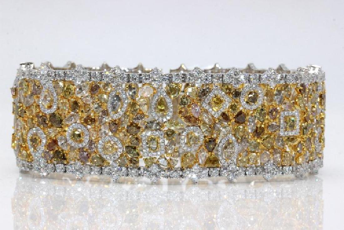18Kt WG & 34.28ct. Diamond Bracelet