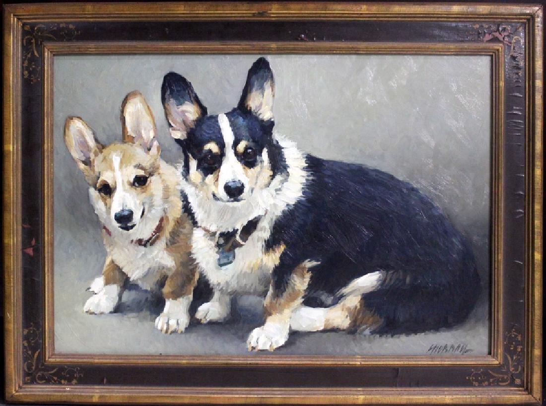 """Richard Murray (American, b.1948) """"Jake and Caleb"""" Oil - 3"""