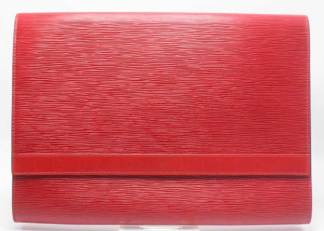 Louis Vuitton Red Epi-Leather Clutch