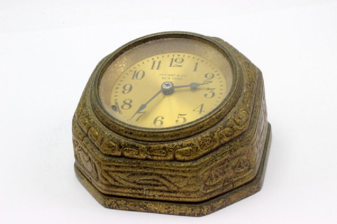Tiffany Studios Spanish Bronze Desk Clock - 2