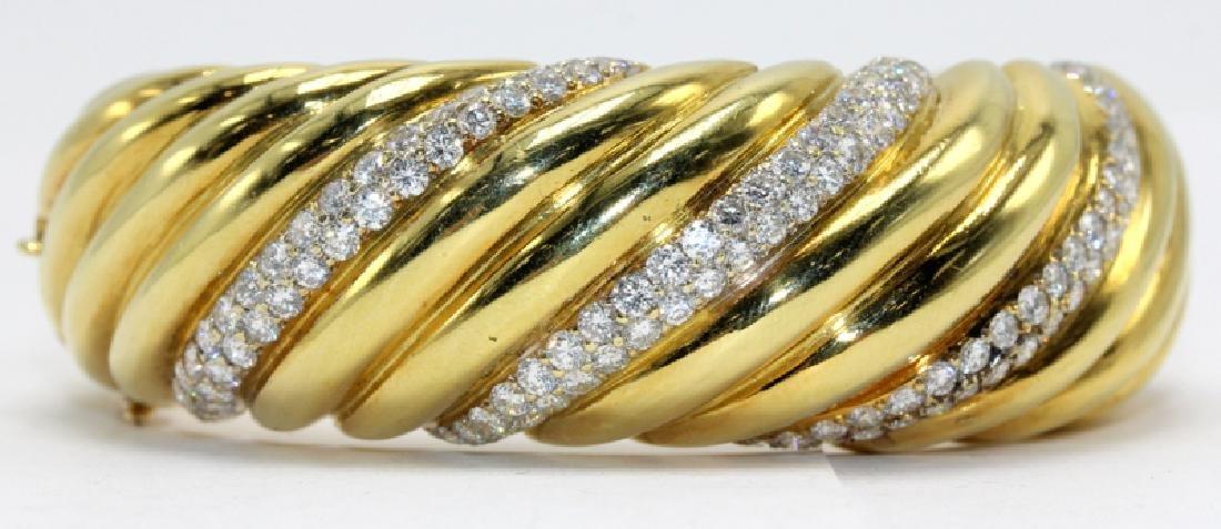 Contemporary Yellow Gold and Diamond Bracelet
